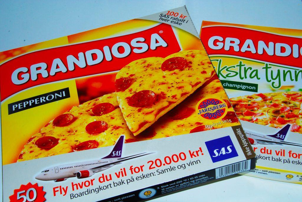 Grandiosas, a pizza congelada mais tradicional da Noruega