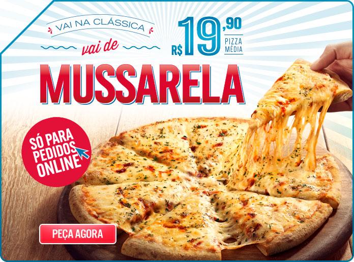 Promoção da Domino's na pizza de mussarela